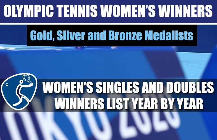 Olympics Tennis Women's Singles and Doubles Winners List Year by Year