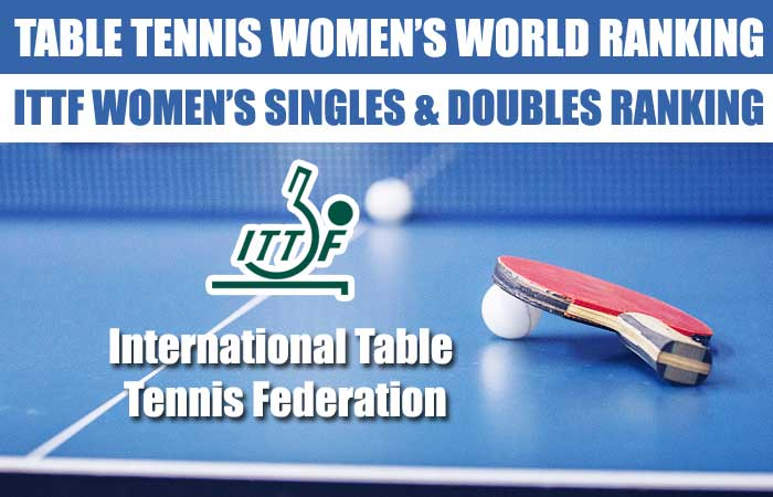 Table Tennis ITTF Women's Singles and Doubles World Ranking