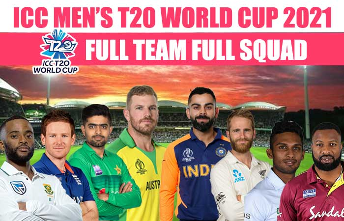 ICC T20 World Cup 2021 Full Team Squad With Groups