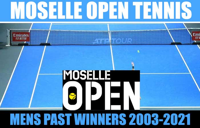 Moselle Open Tennis Men's Singles and Doubles Past Winners