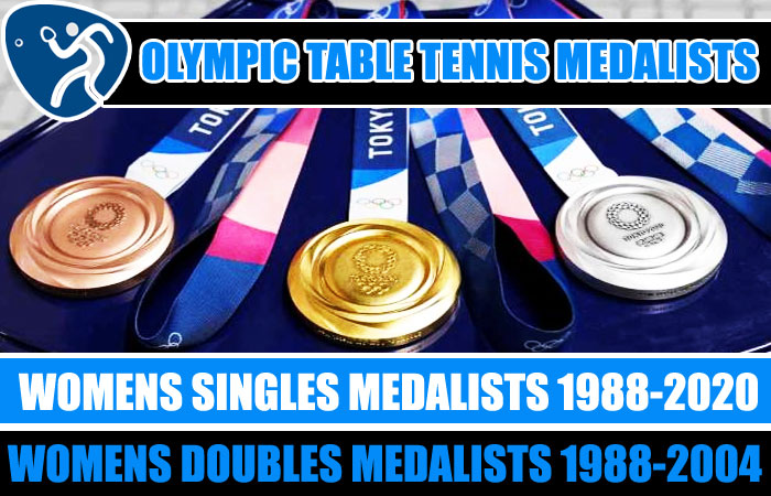 Table Tennis Women's Singles and Doubles Olympic Medalists List